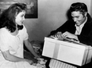 Elvis bday DebraPaget 1958